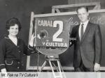 Mr. Fisk dando aulas de inglês na antiga TV Tupi, na década de 50