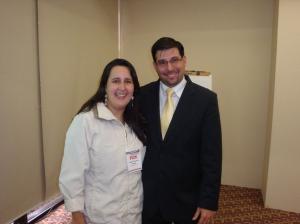 A coordenadora pedagógica e diretora Andréia Gonçalves Marques participou da palestra com Christian Ambros, Executivo de Marketing da Fisk