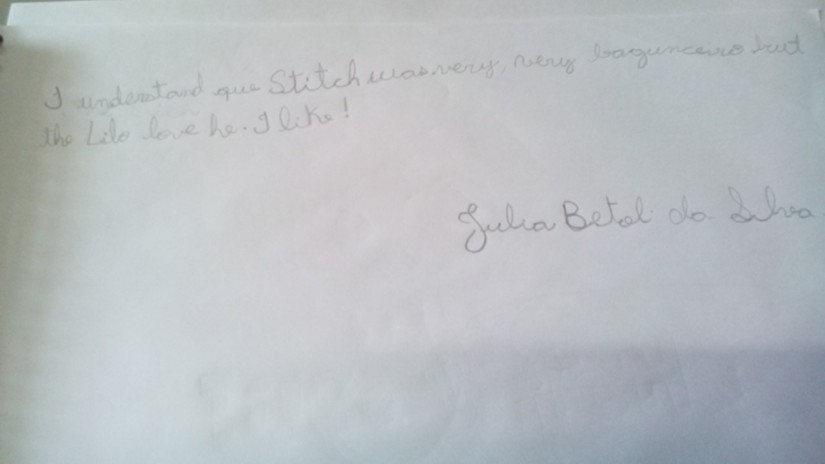 "Records and Memories of the story ""Lilo & Stitch"" - by Julia Bertoli (Have Fun 1)"
