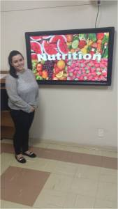 """My project is about Nutrition which will be my career as soon as I finish college. This science studies the food's composition and the person's nutritional necessity, in different conditions of health and disease."" - Karina Garcia Alexandre"