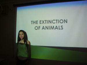 """I chose this subject because I intend to become a vet and the research for this project could be very useful for me in the near future considering that I can learn many things about the process involving the extinction of animals and its consequences."" - Livia Menezes Fernandes"
